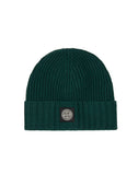N03A6 Ribbed Wool Hat in Bottle Green