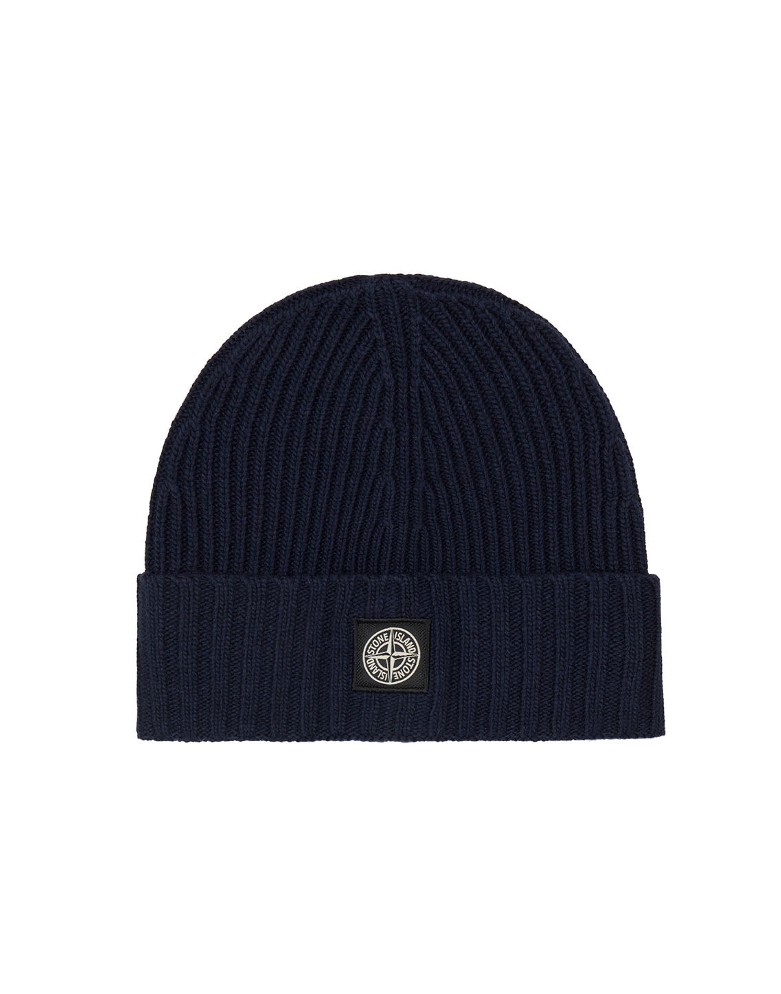 N03A6 Ribbed Wool Hat in Navy Blue