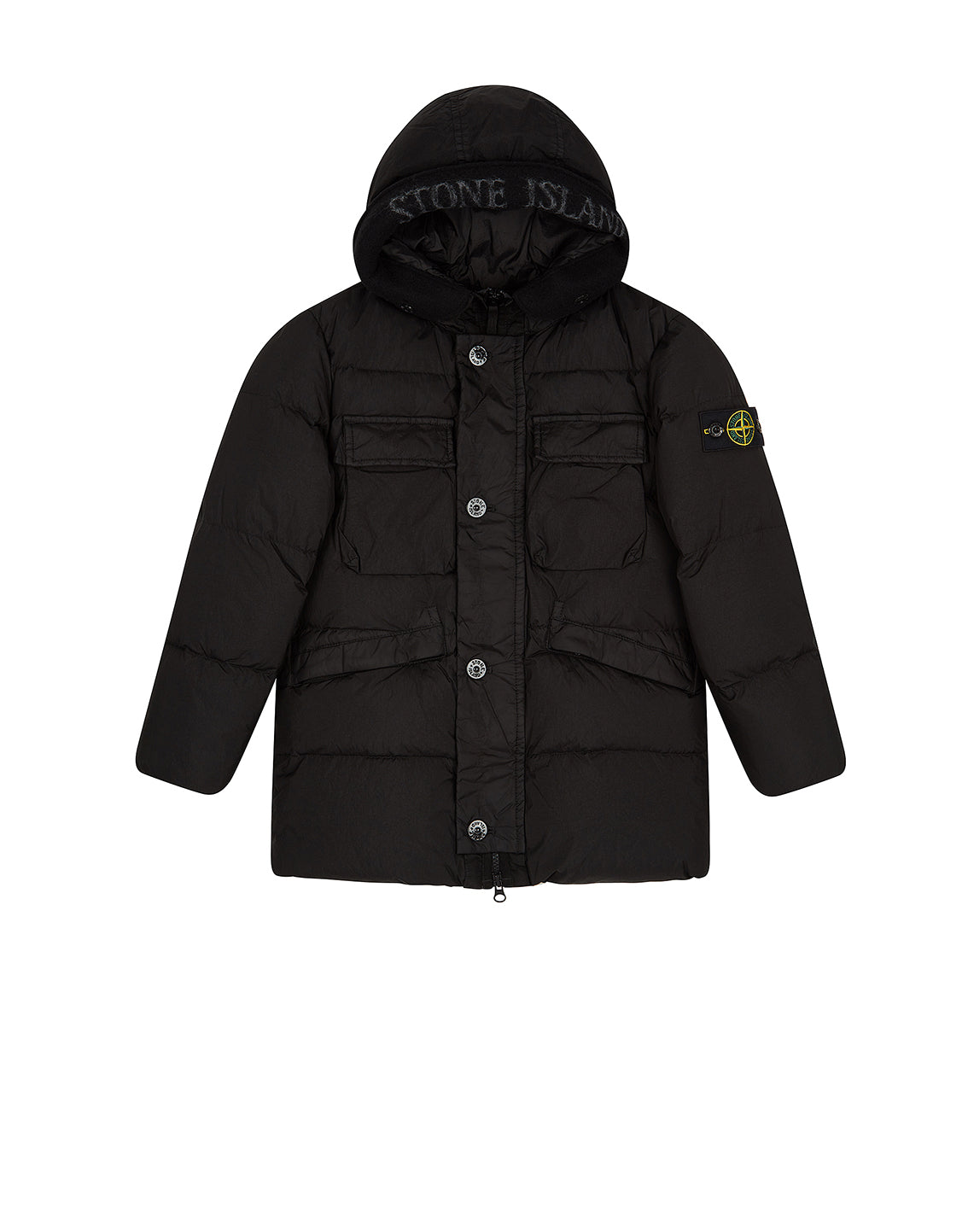 40233 Hooded Down Jacket in Black