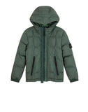 40133 Garment Dyed Crinkle Reps Ny Down Jacket in Bottle Green