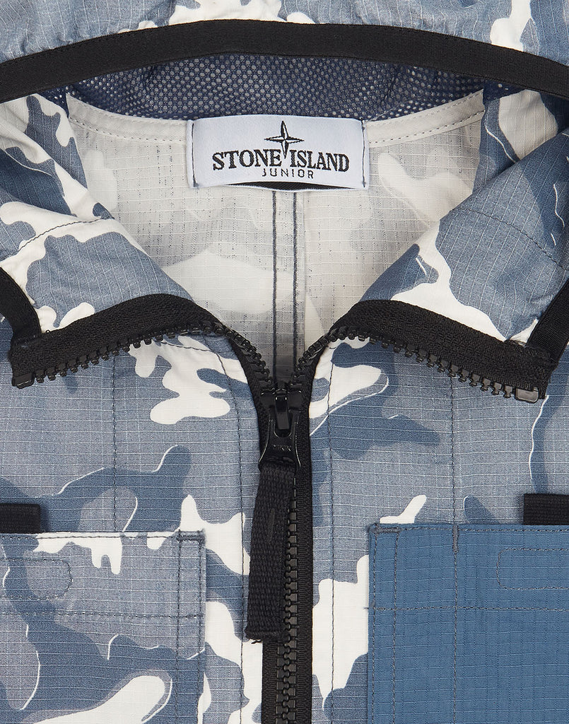 41337 CAMOUFLAGE Jacket in Navy Blue