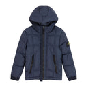 40133 Garment Dyed Crinkle Reps Ny Down Jacket in Navy Blue