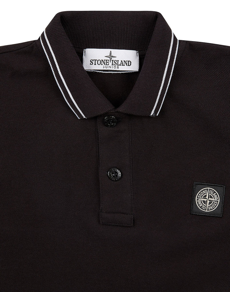 20748 Long Sleeve Polo Shirt in Black