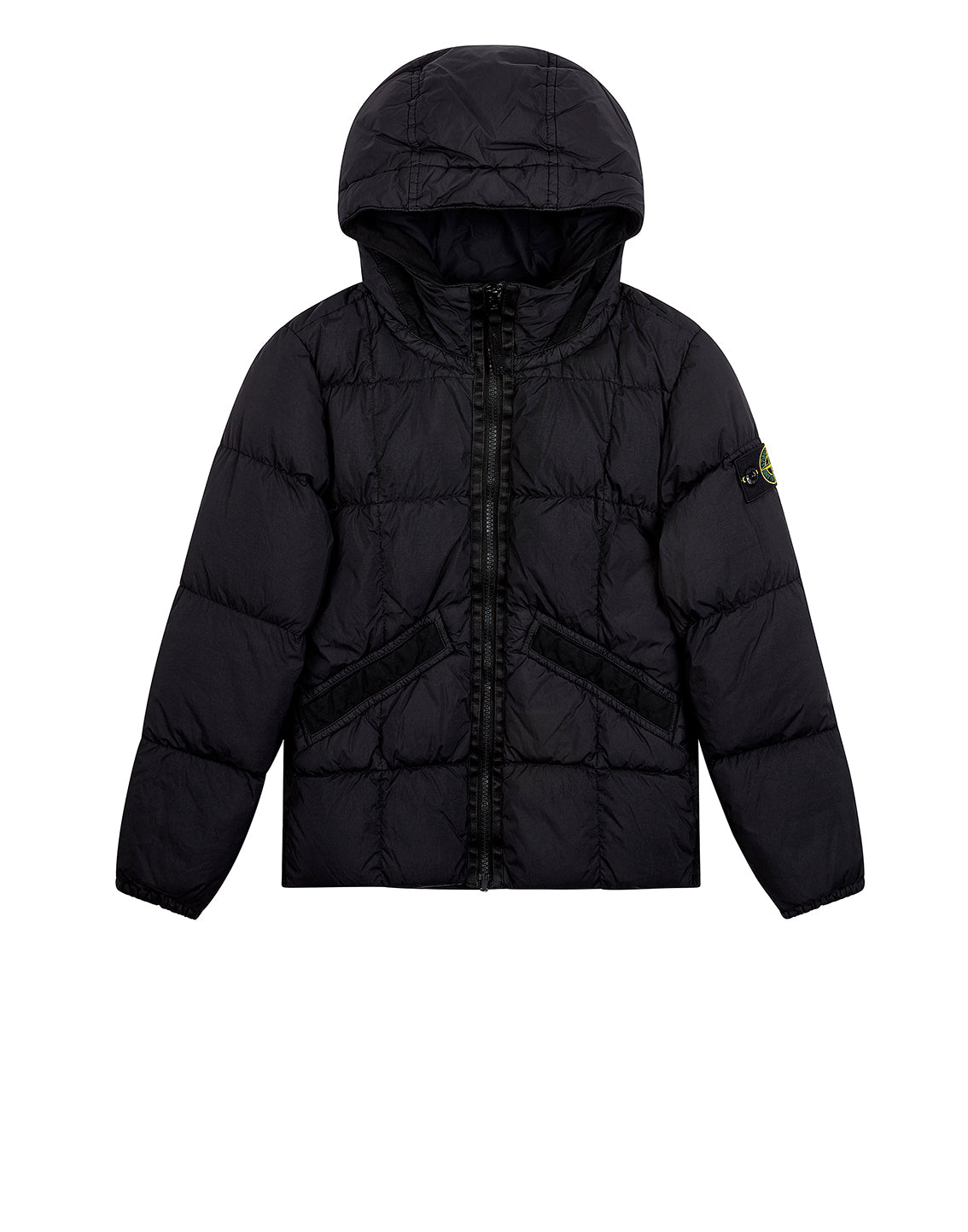 40333 GARMENT DYED CRINKLE REPS NY DOWN Jacket in Black