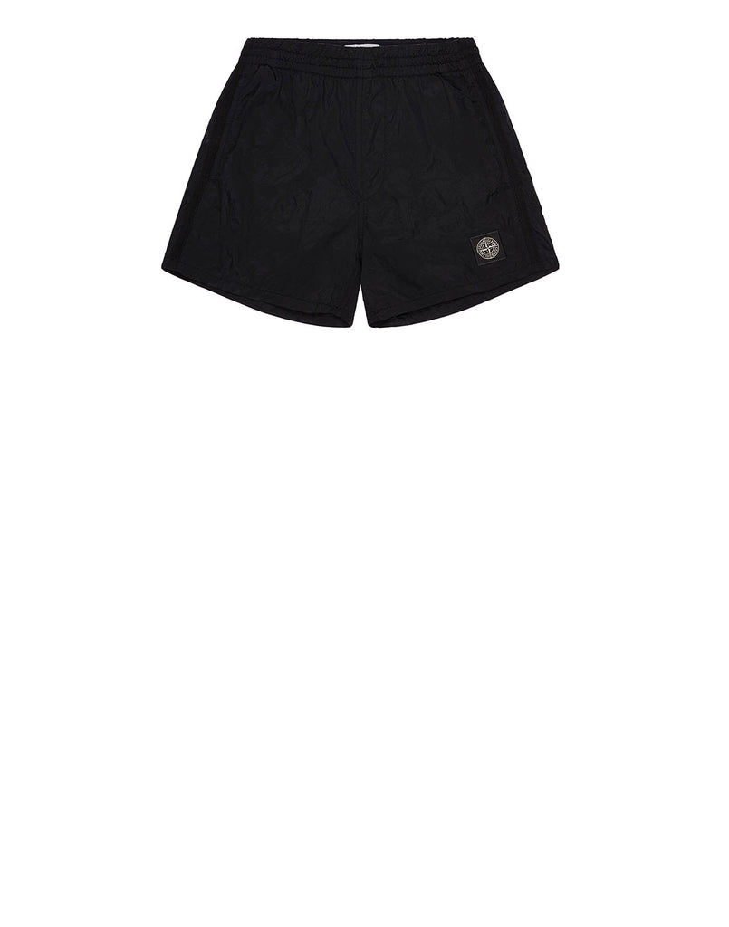 B0213 NYLON METAL Shorts in Black