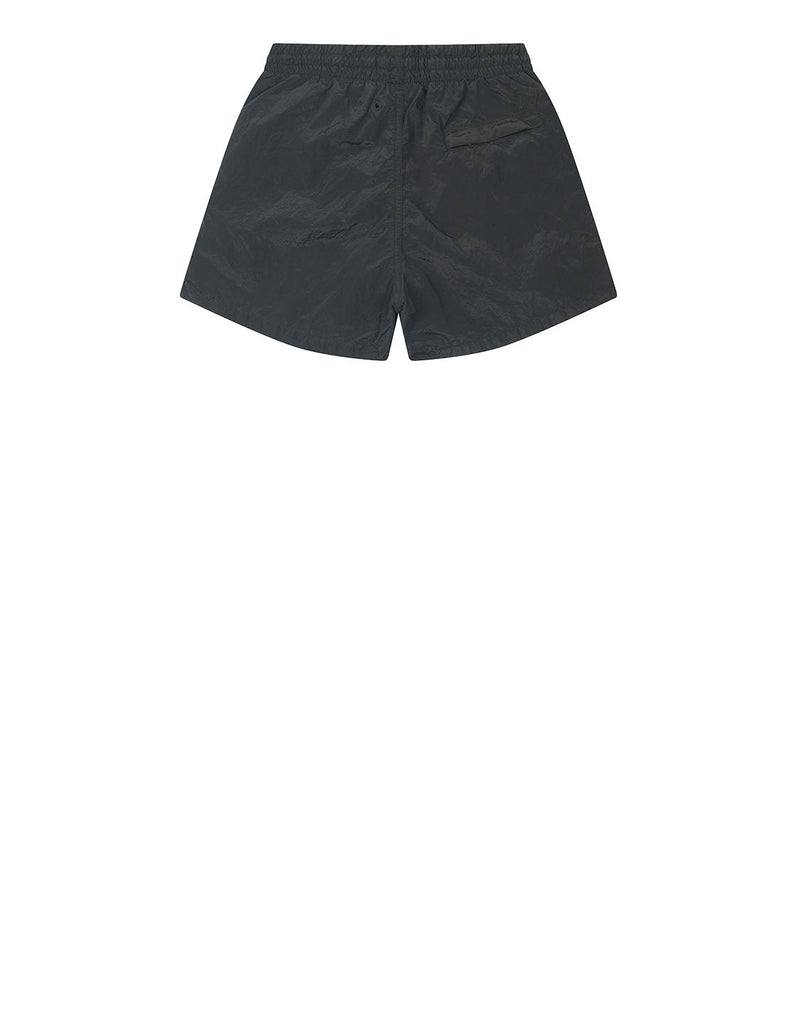 B0213 Nylon Metal Swimming Shorts in Bottle Green