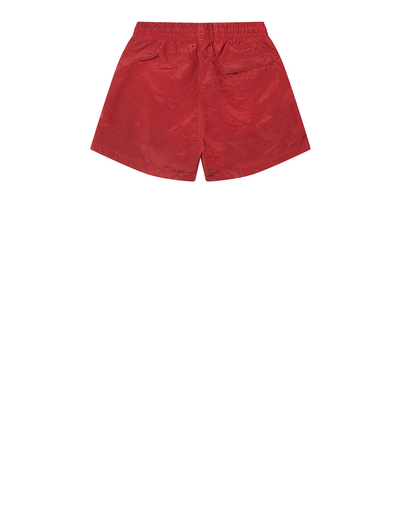 B0213 Nylon Metal Swimming Shorts in Coral