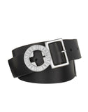 90172 Leather Compass Belt in Black