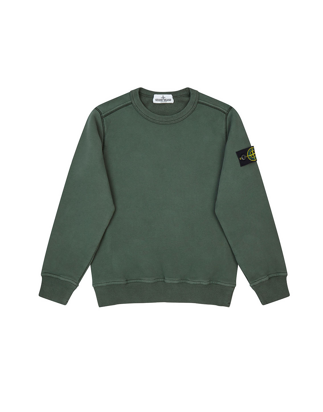 60940 COTTON FLEECE in Bottle Green