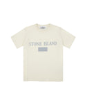 20246 Reflective Print T-Shirt in Ivory