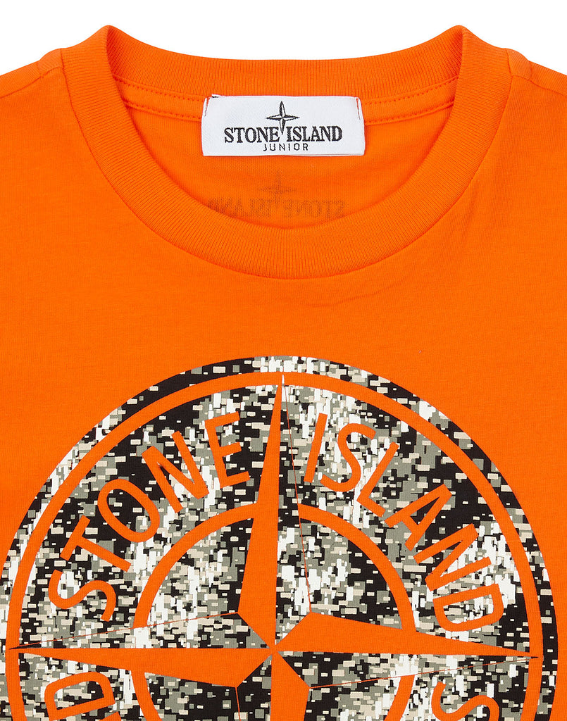 21057 Short Sleeve Compass T-Shirt in Orange