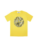 21057 Short Sleeve Compass T-Shirt in Yellow
