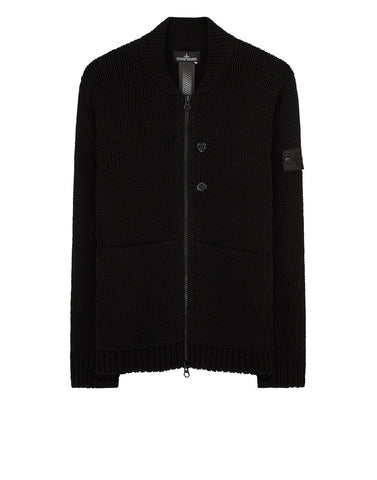 504A3 BOMBER JACKET Cardigan Knit in Black