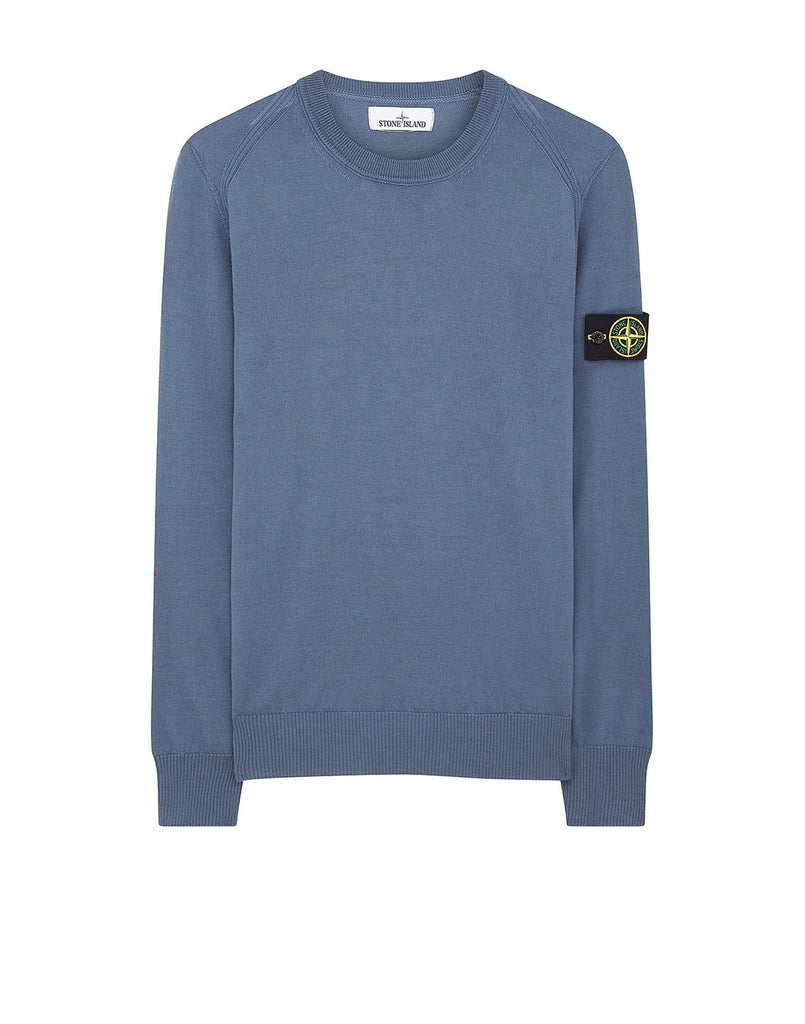 524C4 Crewneck Wool Knit in Dark Blue