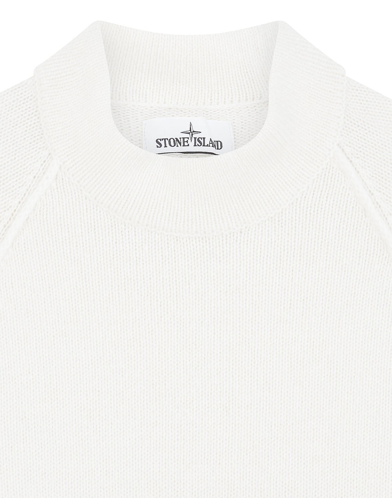 548C7 Lambswool Mock Neck Knit in Natural