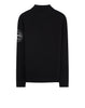 548C7 Lambswool Mock Neck Knit in Black