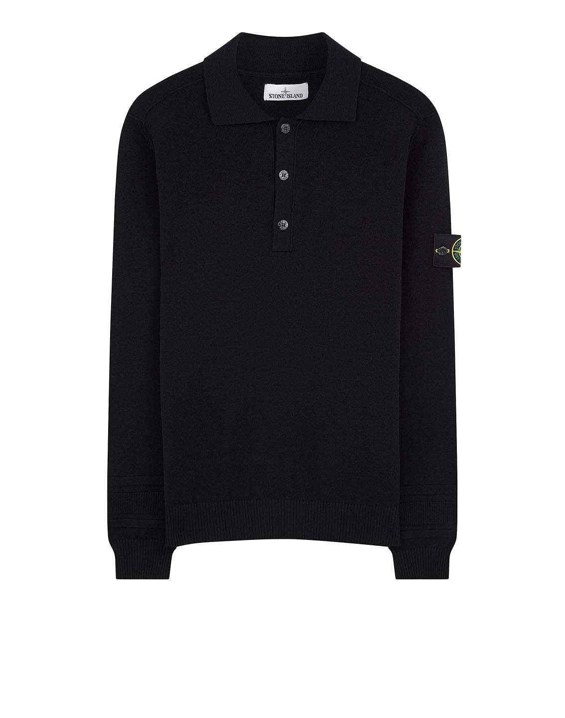 589A1 Wool Polo Shirt in Black