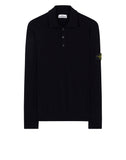 512A1 Knitted Polo Shirt in Navy