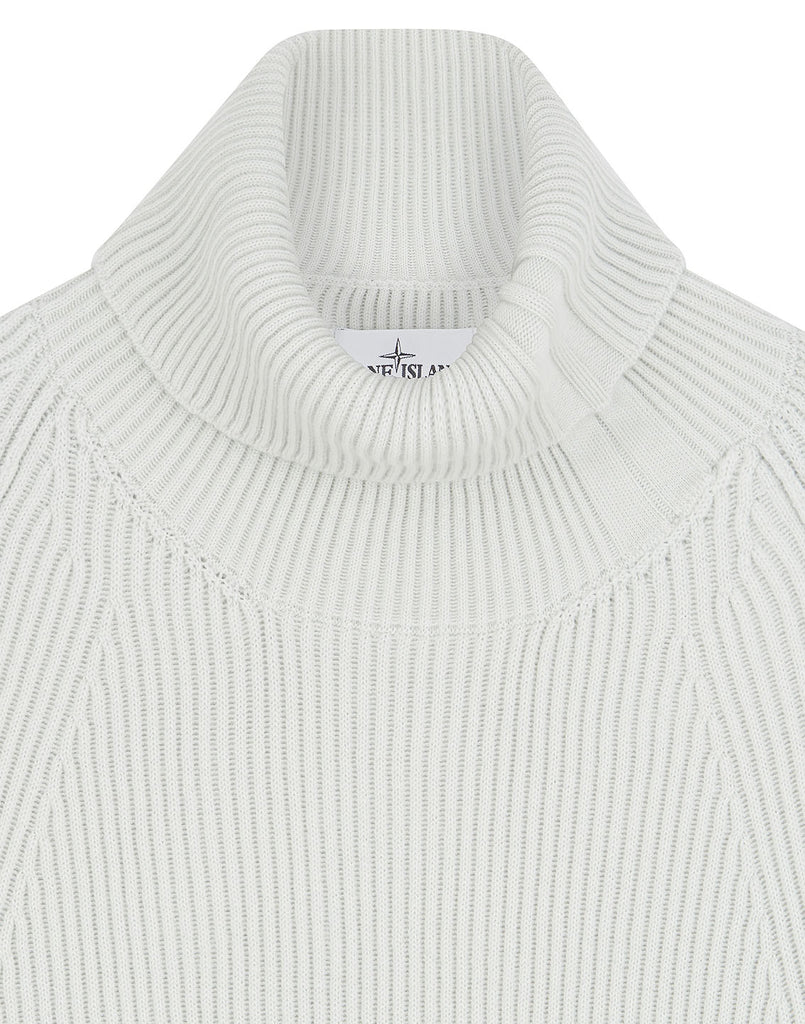 542C2 Ribbed Wool Rollneck Knit in Dust