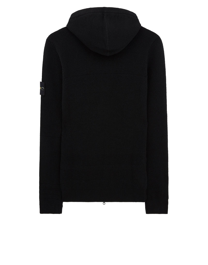 582A1 Hooded Cardigan in Black