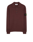 589A1 Wool Polo Shirt in Dark Burgundy