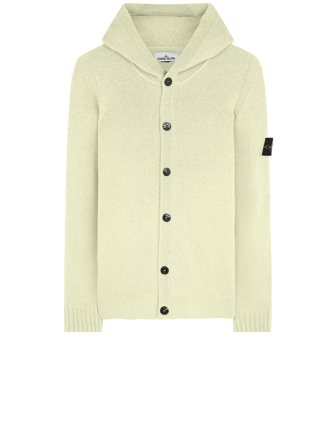 506A3 Hooded Knitted Cardigan in Butter