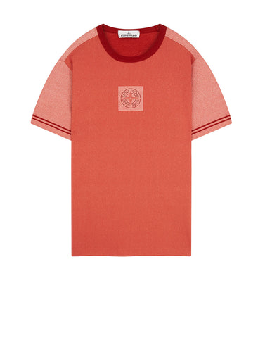 23335 JERSEY PLACCATO T-Shirt in Brick Red