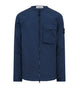 11907 STRUCTURED COTTON Overshirt in Blue Marine