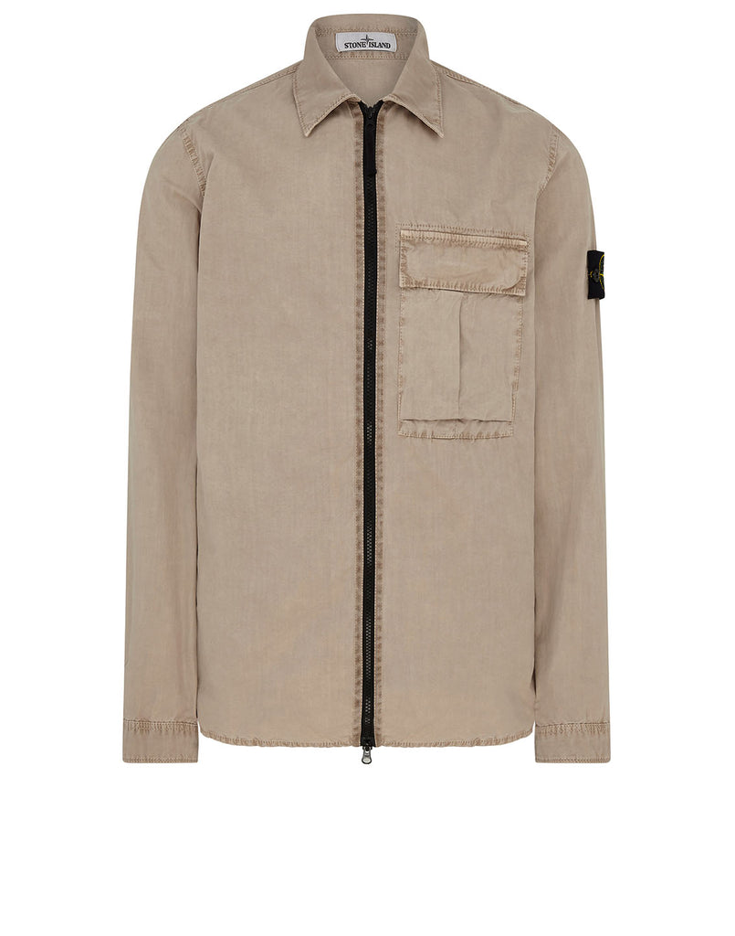 115WN 'OLD' DYE TREATMENT Overshirt in Sand