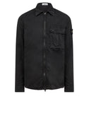115WN 'OLD' DYE TREATMENT Overshirt in Black