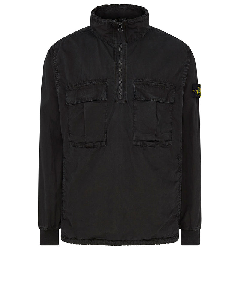 117WN 'OLD' DYE TREATMENT Overshirt in Black