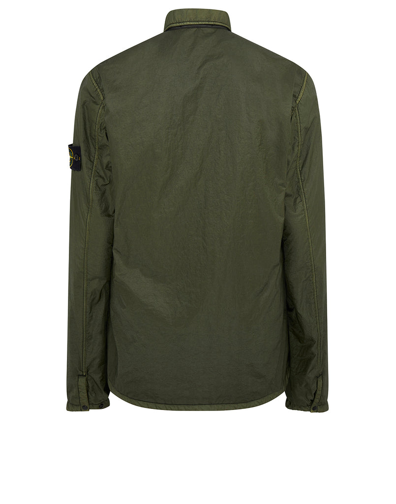 11435 LAMY FLOCK: Overshirt in Dark Forest
