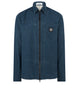 106J1 PANAMA PLACCATO Overshirt in Blue Marine