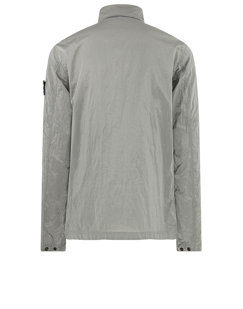 11117 NYLON METAL RIPSTOP Overshirt in Pearl Grey
