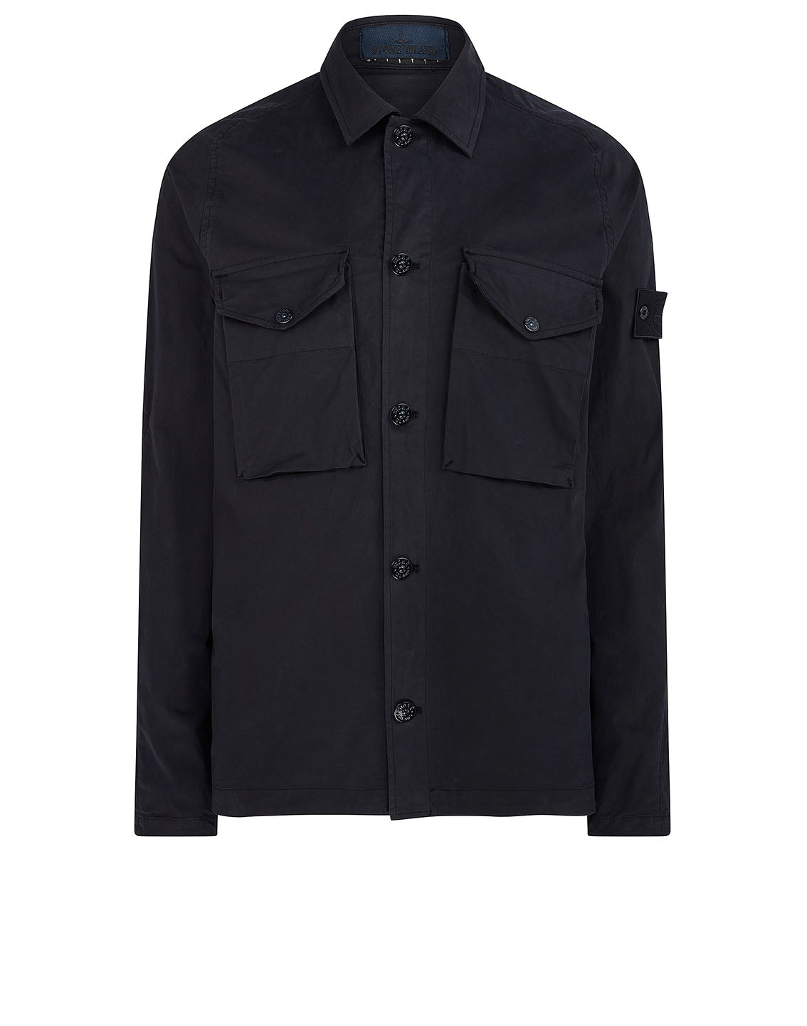 123F2 GHOST PIECE Overshirt in Navy Blue