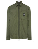106J2 NYLON TELA-TC Overshirt in Olive