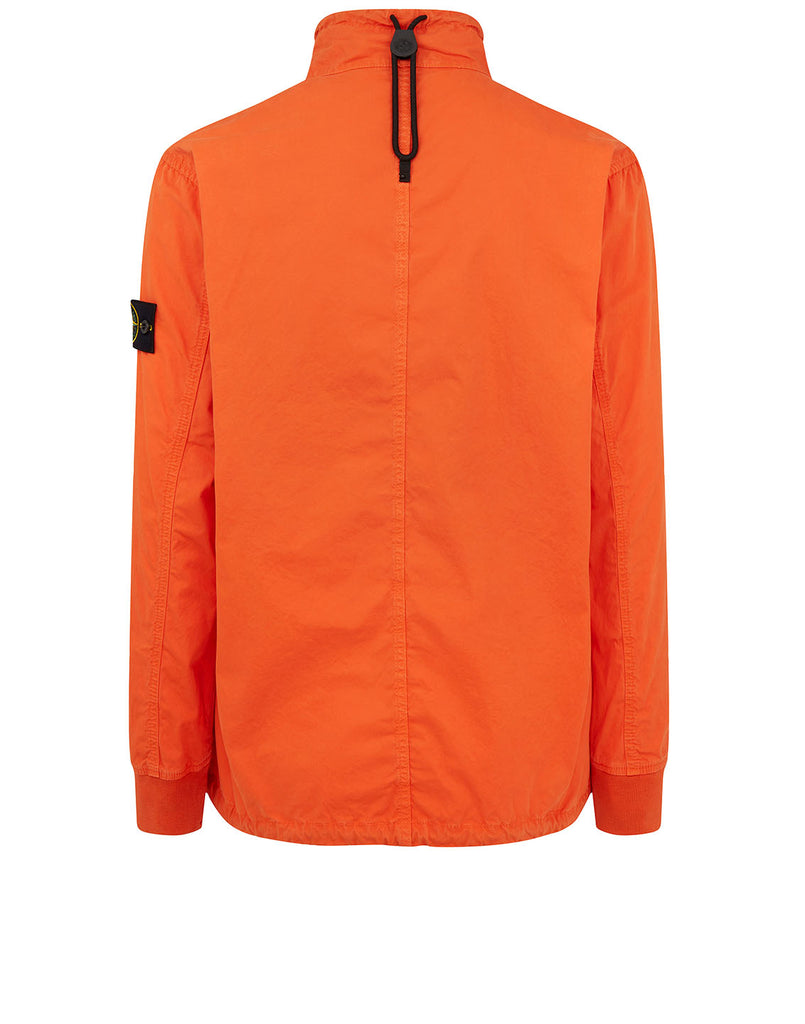 117WN 'OLD' DYE TREATMENT Overshirt in Orange