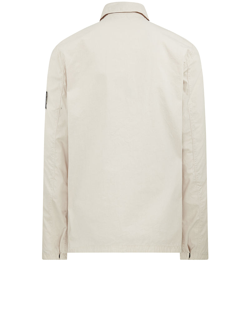 121WN OLD DYE TREATMENT Overshirt in Plaster