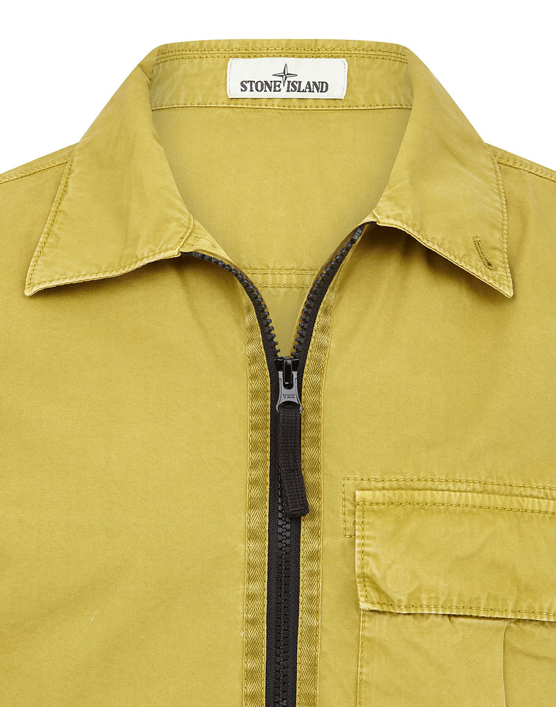 115WN 'OLD' DYE TREATMENT Overshirt in Mustard