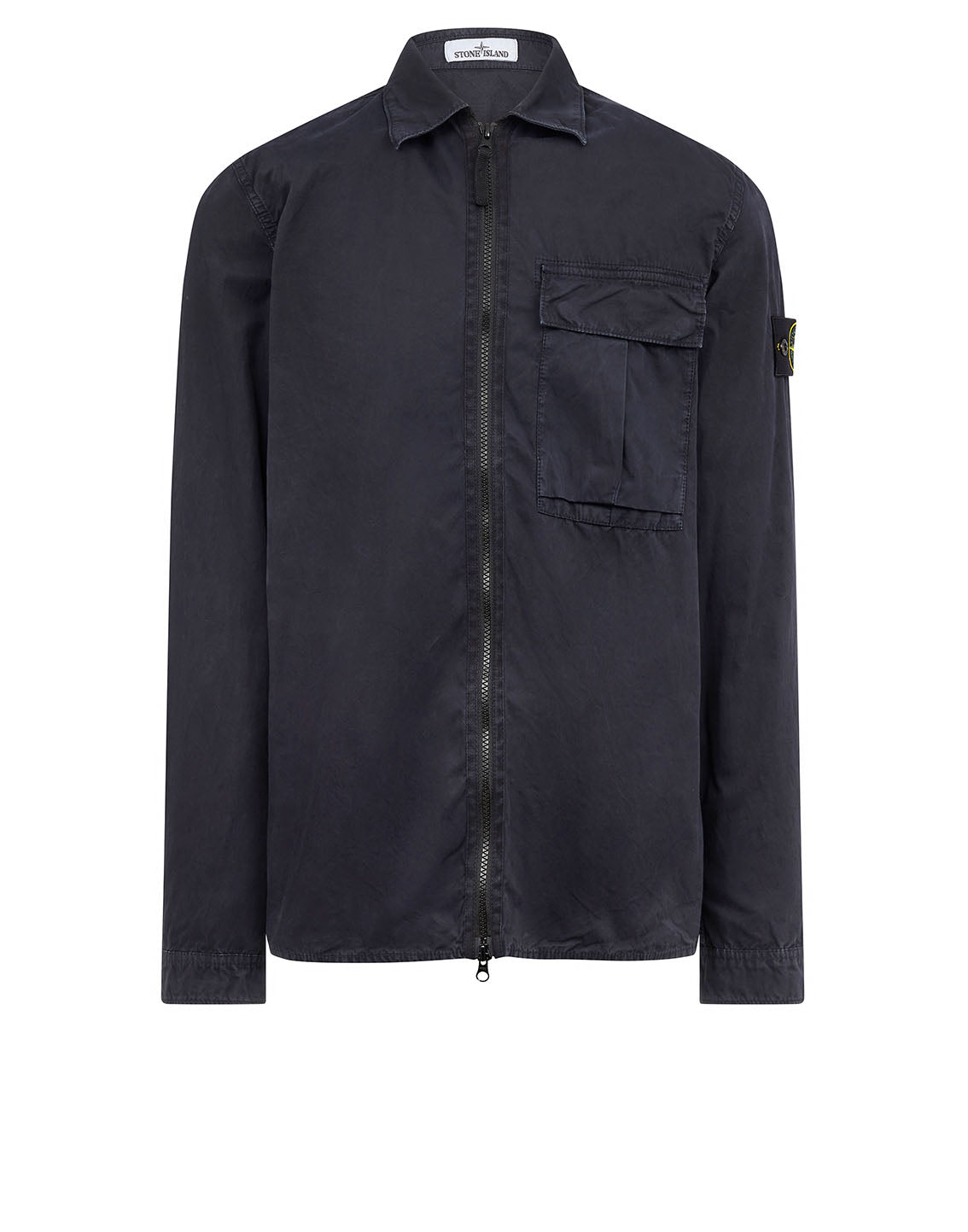 115WN 'OLD' DYE TREATMENT Overshirt in Navy Blue