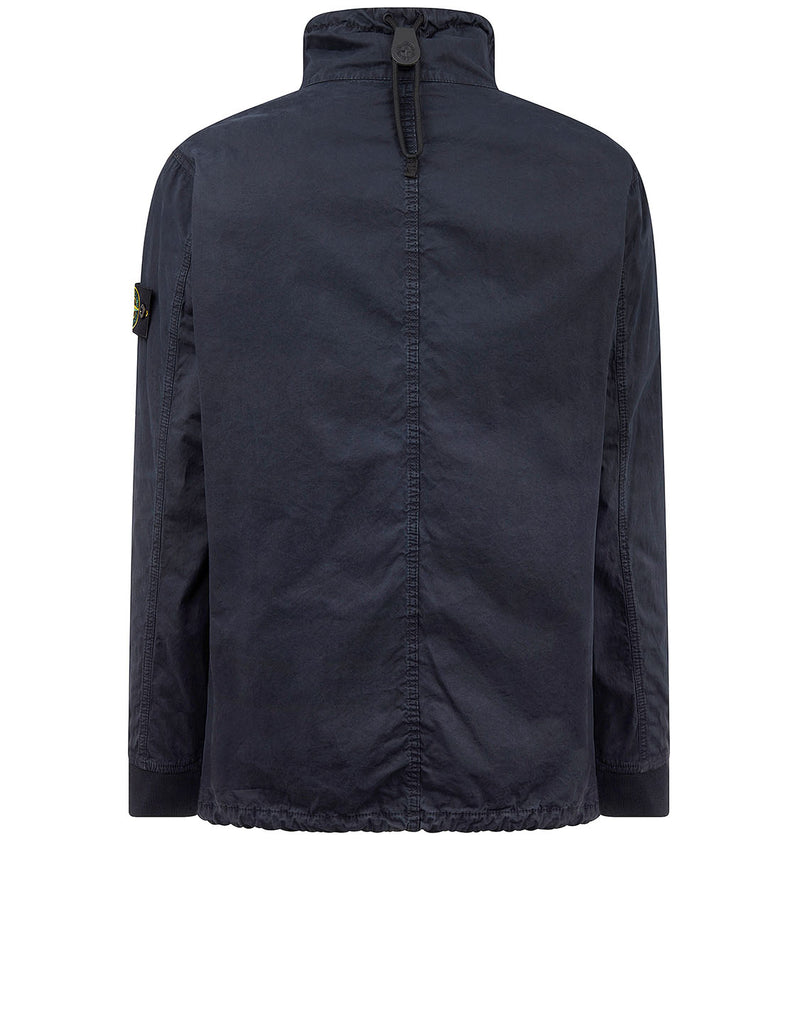 117WN 'OLD' DYE TREATMENT Overshirt in Navy Blue