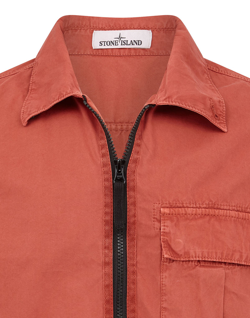 115WN 'OLD' DYE TREATMENT Overshirt in Rust