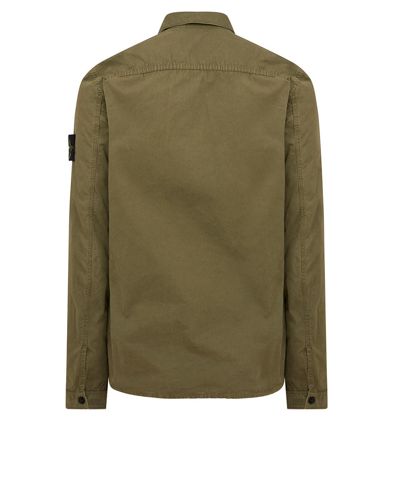 115WN 'OLD' DYE TREATMENT Overshirt in Olive