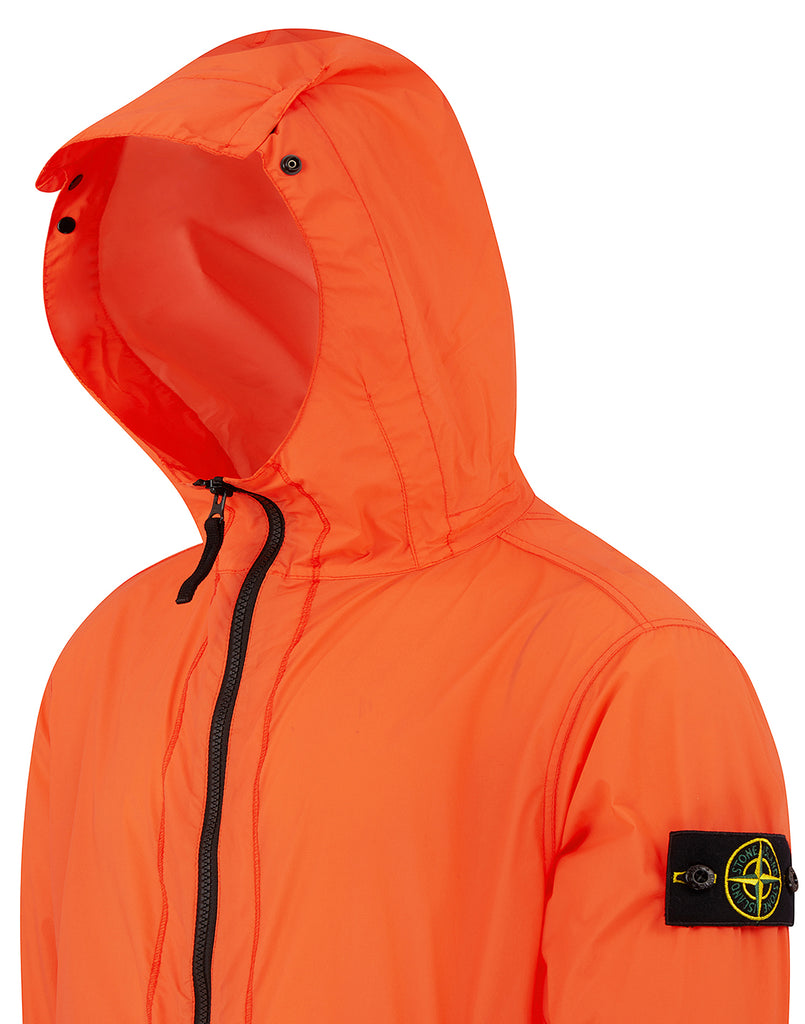 43831 SKIN TOUCH NYLON-TC_PACKABLE Jacket in Orange Red