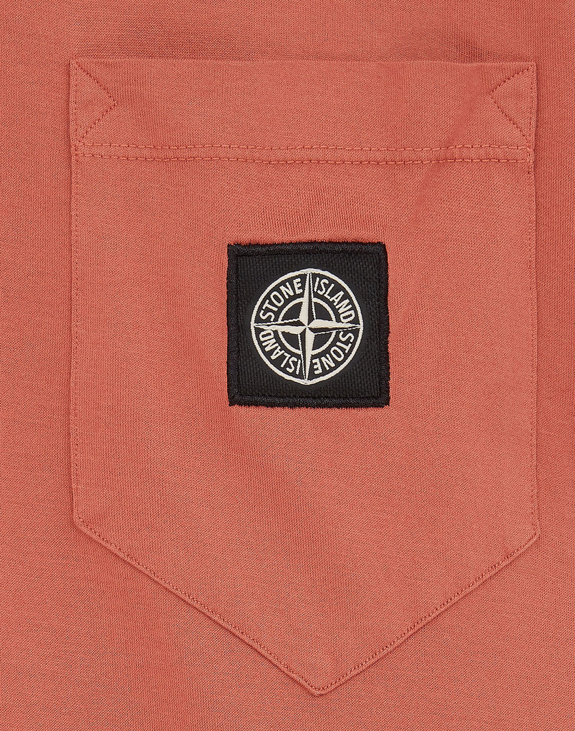 20113 Pocket Patch T-Shirt in Rust