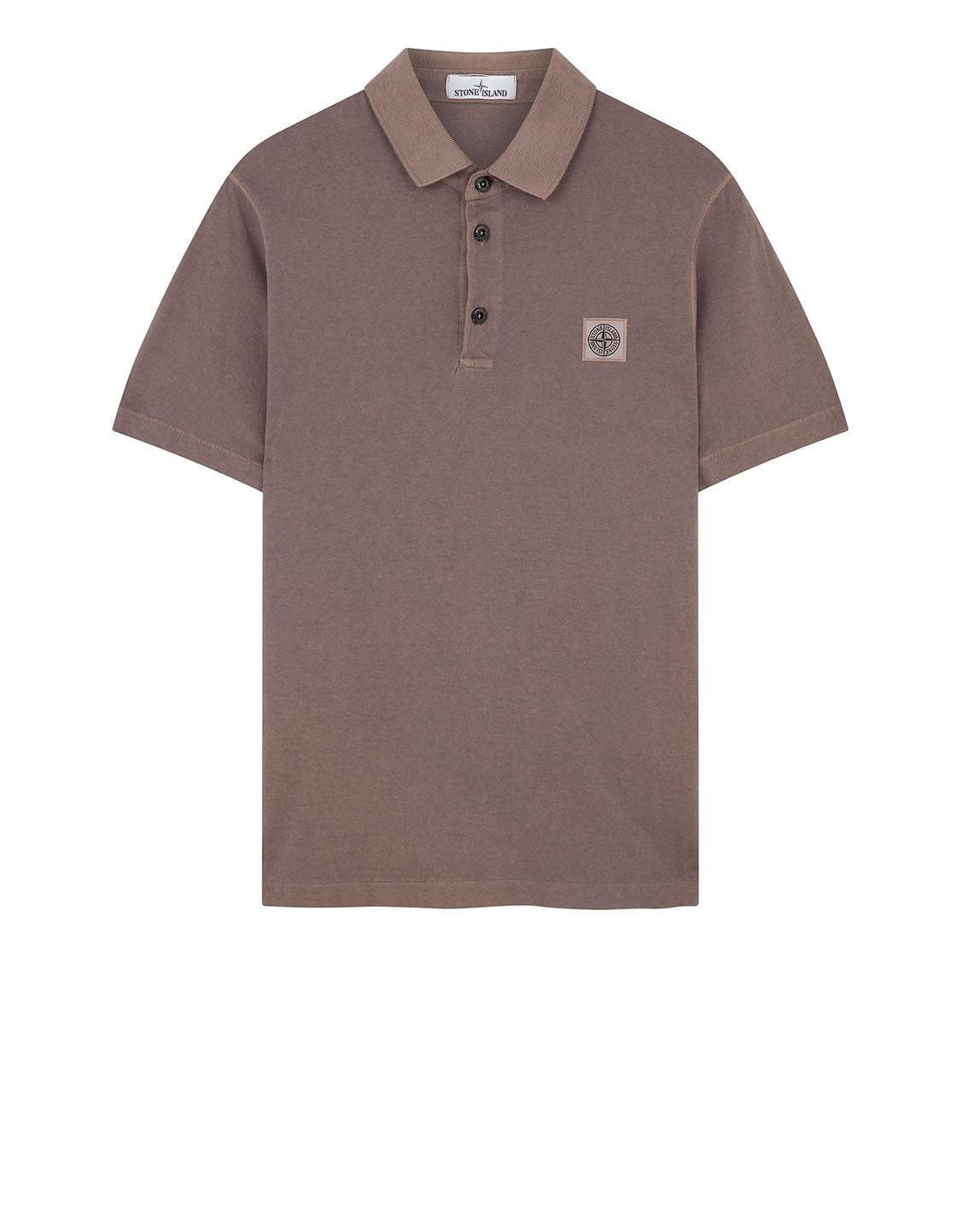 21757 'FISSATO' DYE TREATMENT Polo Shirt in Blue Grey