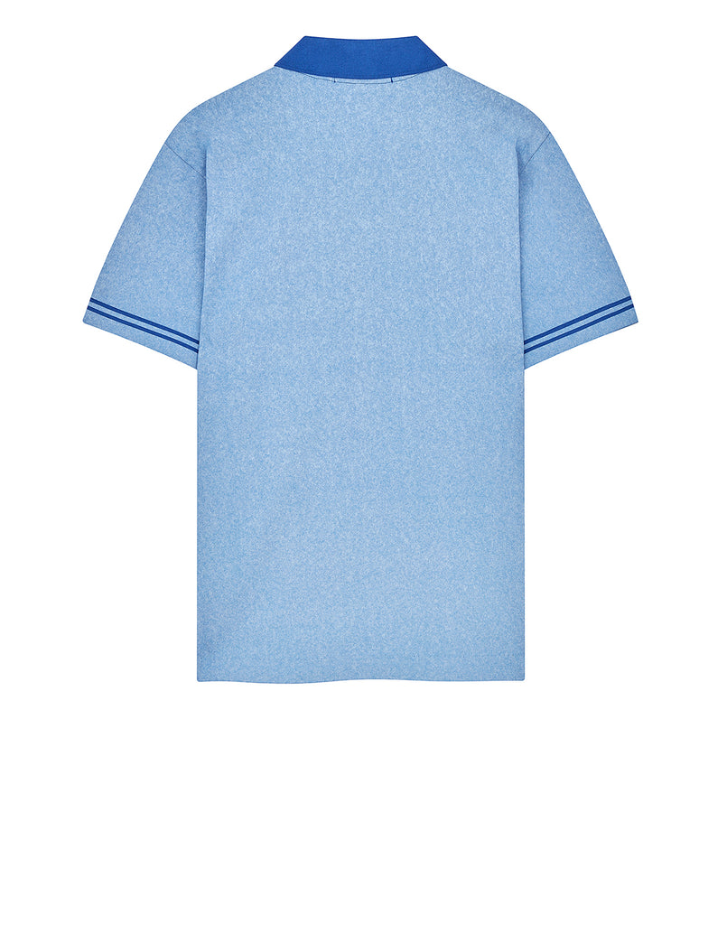 22834 JERSEY PLACCATO Polo Shirt in Periwinkle