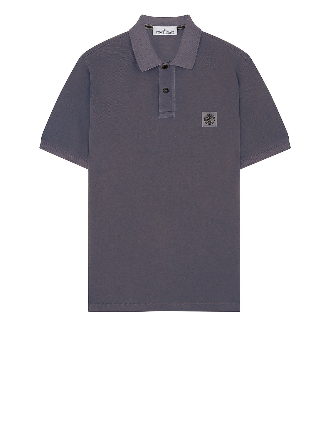 22S67 Pigment Dye Short Sleeve Polo Shirt in Violet