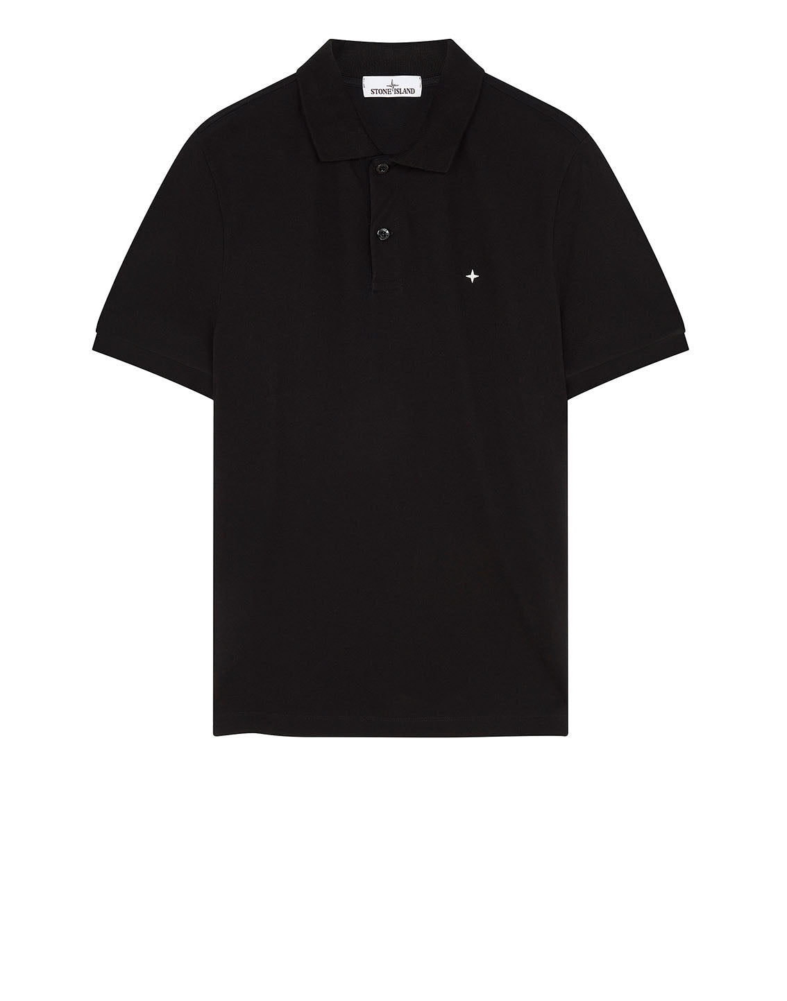 21718 Short Sleeve polo shirt in Black