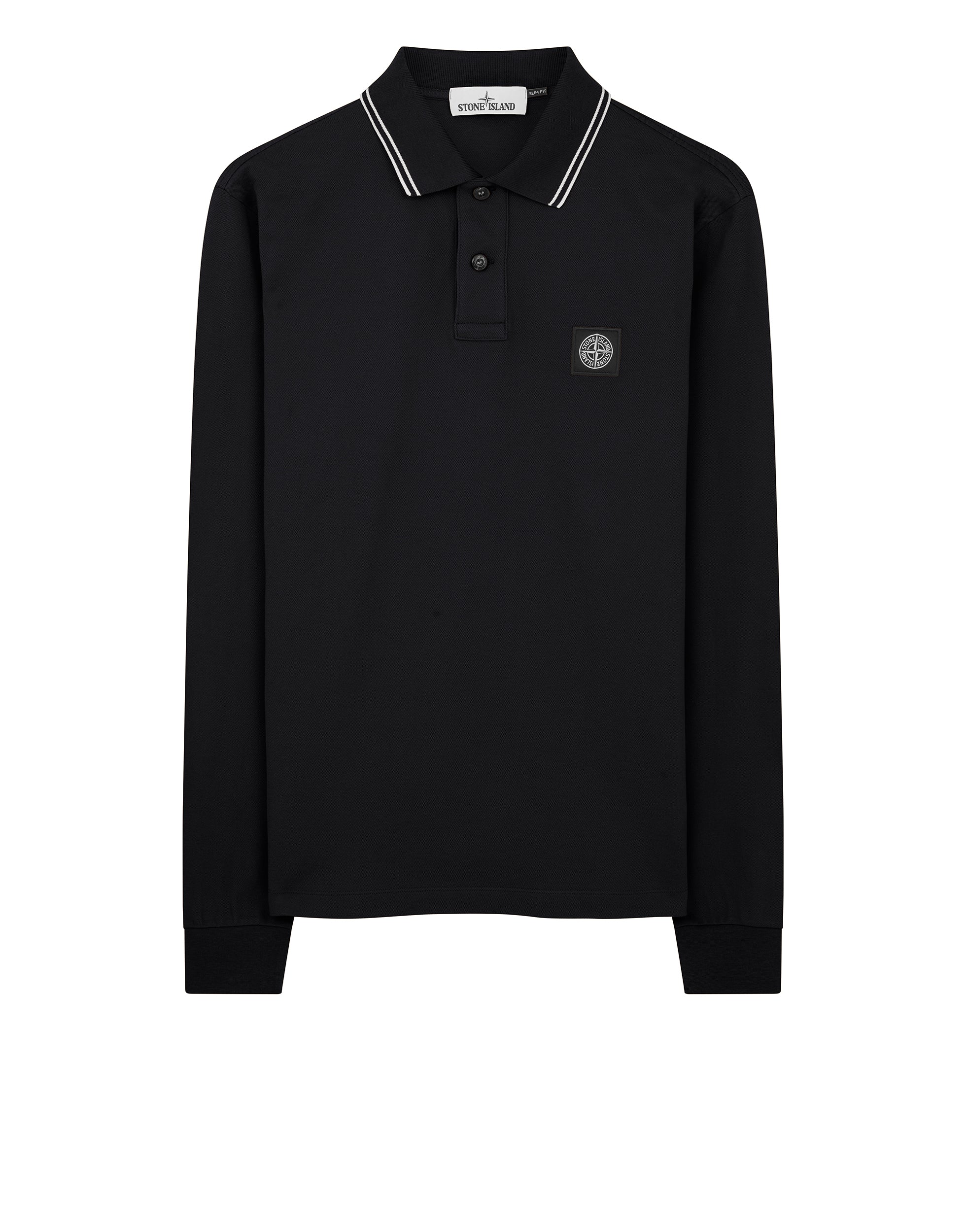 2Ss18 Long Sleeve Polo Shirt in Black